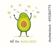 illustration with funny... | Shutterstock .eps vector #455283775