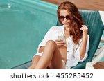 Happy Smartphone Woman Relaxin...