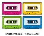 Audio Cassette Icon In Four...