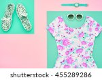 fashion. clothes accessories... | Shutterstock . vector #455289286