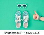 fashion. clothes accessories... | Shutterstock . vector #455289316