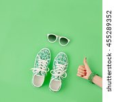 fashion woman accessories set.... | Shutterstock . vector #455289352