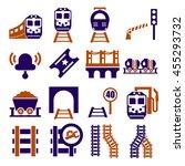 train  railway  underground...   Shutterstock .eps vector #455293732