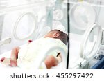 newborn care in the hospital. | Shutterstock . vector #455297422
