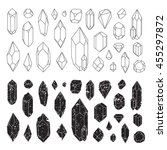 set of geometric crystals  line ... | Shutterstock .eps vector #455297872