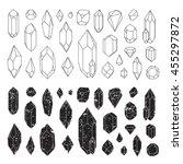 set of geometric crystals  line ... | Shutterstock .eps vector #455297872