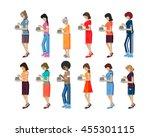 vector illustration isolated... | Shutterstock .eps vector #455301115