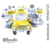 Hand Painted Mini Taxi Car With ...