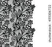seamless lace border. vector... | Shutterstock .eps vector #455306722