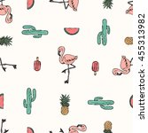Tropical Flamingo Print For T...