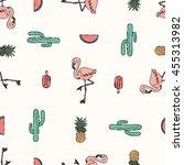 Tropical Flamingo Print For T...