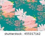 creative trendy seamless... | Shutterstock .eps vector #455317162
