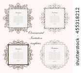 ornamental invitation templates ... | Shutterstock .eps vector #455318212