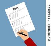 passing exam test. education... | Shutterstock .eps vector #455320612