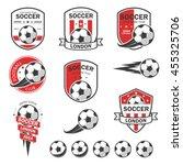 set of football logos. | Shutterstock .eps vector #455325706