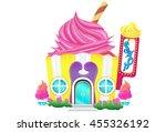 cupcake sweet house. | Shutterstock .eps vector #455326192