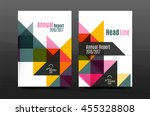 colorful geometry design annual ... | Shutterstock .eps vector #455328808
