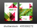 colorful geometry design annual ... | Shutterstock .eps vector #455330272