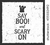 vector halloween typography... | Shutterstock .eps vector #455332492