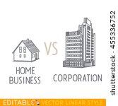 home business vs corporation.... | Shutterstock .eps vector #455336752