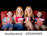 big sisters with little... | Shutterstock . vector #455344405