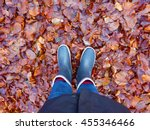 a pair of wellies on a bed of... | Shutterstock . vector #455346466