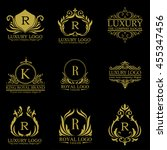 luxury logo set | Shutterstock .eps vector #455347456