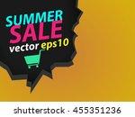 crack wall yellow orange... | Shutterstock .eps vector #455351236