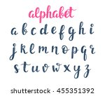 vector alphabet. abc hand... | Shutterstock .eps vector #455351392