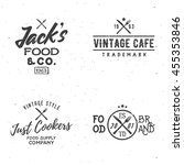 set of food related vintage... | Shutterstock .eps vector #455353846