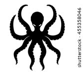 vector sign. octopus. | Shutterstock .eps vector #455358046