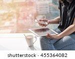 digital lifestyle blog writer... | Shutterstock . vector #455364082