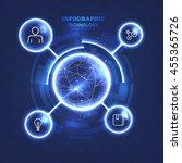 technology circles bright chart.... | Shutterstock .eps vector #455365726