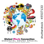 global music event abstract... | Shutterstock .eps vector #45537133
