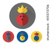 flat bowling ball with crown.... | Shutterstock .eps vector #455373706