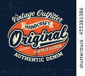 typography vintage outfit brand ... | Shutterstock .eps vector #455381386