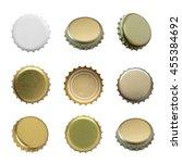 Постер, плакат: Set of beer caps