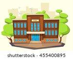 school building . cartoon and... | Shutterstock .eps vector #455400895