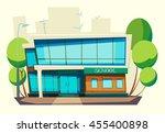 school building . cartoon and... | Shutterstock .eps vector #455400898