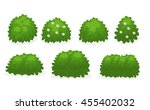 different types of bushes... | Shutterstock .eps vector #455402032