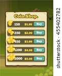 coin shop pop up  screen game...