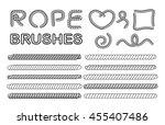 rope brushes set  classic... | Shutterstock .eps vector #455407486