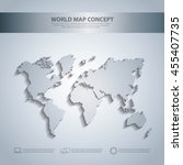 world and map concept... | Shutterstock .eps vector #455407735