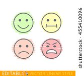 smile set icon editable vector... | Shutterstock .eps vector #455410096
