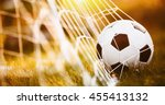 soccer ball in goal | Shutterstock . vector #455413132