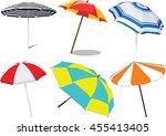 vector illustration of a beach... | Shutterstock .eps vector #455413405