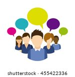 social media concept...   Shutterstock .eps vector #455422336