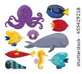 sea life concept represented by ... | Shutterstock .eps vector #455429218