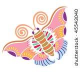 spring loves butterfly | Shutterstock .eps vector #45543040