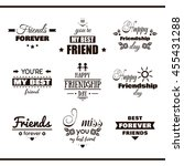 collection of monochrome labels ...   Shutterstock .eps vector #455431288